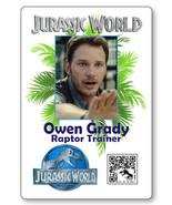 OWEN GRADY TRAINER JURASSIC WORLD NAME BADGE PROP HALLOWEEN COSPLAY MAGN... - $14.84
