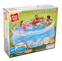 Play Day 8ft 3D Transparent Quick Set® Pool with 2 3D Goggles - Ready to Ship image 7