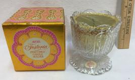 Avon & Fostoria Glass Candle Holder Perfumed Clear Glass Original Box NOS - $9.85