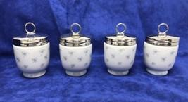NEW 4 RARE Vintage Royal Worcester Egg Coddler Cottage Flower Design Set - $155.00