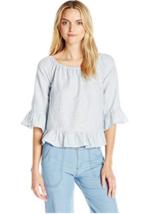 NEW Sanctuary Women's Julia Top Loom Stripe Shirt Sun Bleached Stripe Bl... - €28,59 EUR