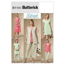 Butterick Patterns B5501 Misses' Vest, Top, Dress, and Pants, Size BB (8-10-12-1 - $11.76