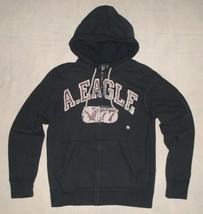 NWT American Eagle Vintage Fit Navy Graphic Logo Hoodie Sweatshirt Mens ... - $39.99