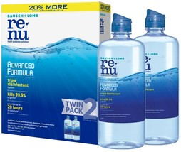 Bausch + Lomb Renu Lens Solution, Advanced Triple Disinfect Formula, Mul... - $22.32
