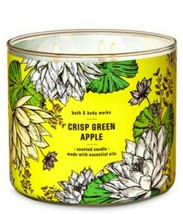Bath & Body Works Crisp Green Apple 3 Wick Scented Candle 14.5 oz - $25.23