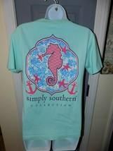 SIMPLY SOUTHERN Mint Green Seahorse Top Shirt Size S Women's EUC - $19.20