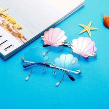 Vintage Rimless Sunglasses Women  Fashion Shell Designer Steampunk Sunglasses Me image 5