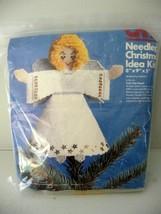 Vintage 1978 Tree Top Angel Plastic Canvas Needlepoint Christmas Idea Ki... - $35.90