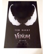 VENOM - OFFICIAL MOVIE POSTER - SONY PICTURES - FREE SHIPPING - $11.30