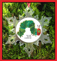 Very Hungry Caterpillar Christmas Ornament - X-MAS Snowflake Ornament - $12.95