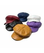 Retro Women Ladies Autumn Winter Beret Hat Leather British Style Flat To... - $12.50