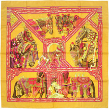 Auth Hermes Paris LE DANSE DU CHEVAL MARWARI Silk Scarf Carre FAIVRE 90cm - $309.95
