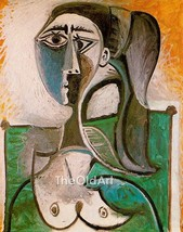 Pablo Picasso Oil Painting Bust of a woman Hand-Painted on Canvas Museum... - $125.00+