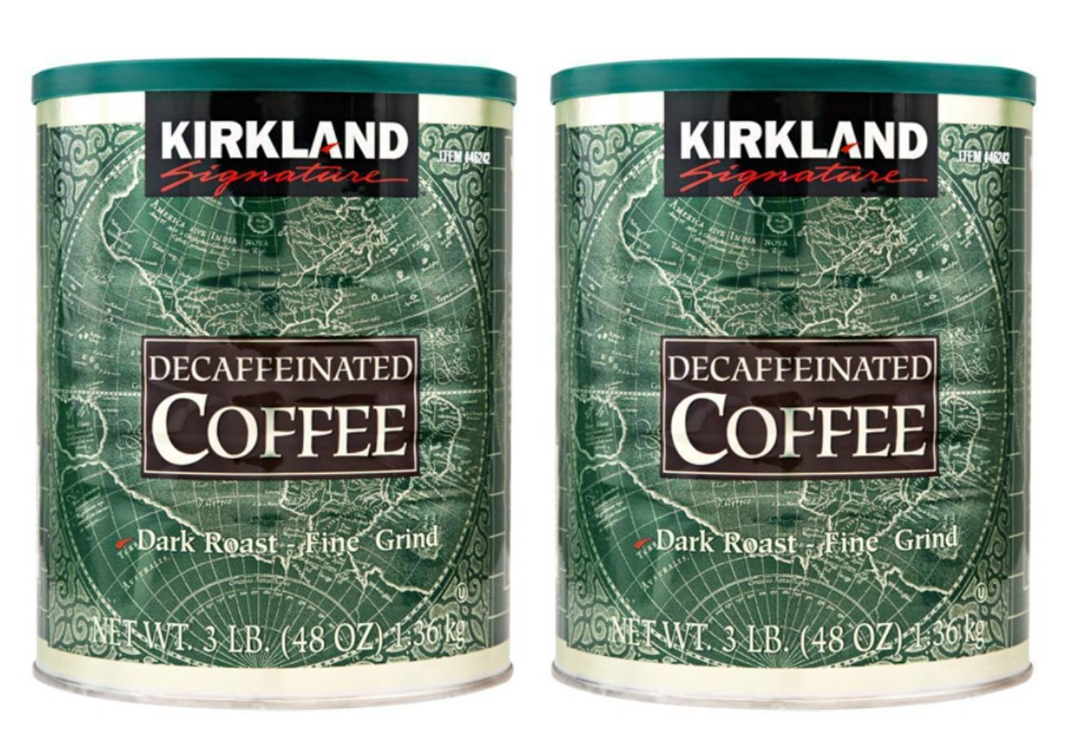 2 Packs Kirkland Signature Arabica Decaffeinated Coffee 3 LB total 6 LB Exp 2022 - $38.49