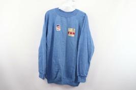 Neuf Vintage 80s Sportswear Hommes XL Manches Longues Ras Du Cou Sweat H... - $49.45