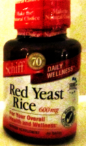 Schiff  Red Yeast Rice 600 mg Health & Wellness Supplement 60CT MSRP: $1... - $1.99