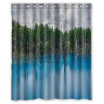 Flooded Forest #01 Shower Curtain Waterproof Made From Polyester - $29.07+