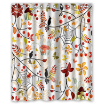 Floral Pattern #01 Shower Curtain Waterproof Made From Polyester - $29.07+