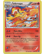 Infernape 20/114 Holo Rare XY Steam Siege Pokemon Card - $1.29