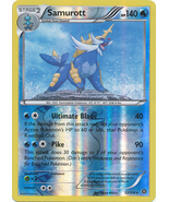 Samurott 32/114 Rare Reverse Holo XY Steam Siege Pokemon Card - $1.29