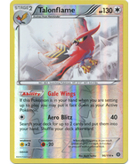 Talonflame 96/114 Rare Reverse Holo XY Steam Siege Pokemon Card - $4.98