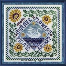 Summer Garden Party cross stitch chart Tempting Tangles - $9.00