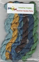SILK FLOSS PACK for Summer Garden Party cross stitch chart Dinky Dyes - $24.30