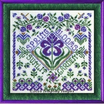 Spring Garden Party cross stitch chart Tempting Tangles - $9.00