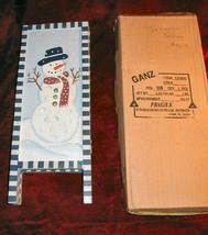 Ganz Tri-fold Hand Painted Christmas Snowman Table Decor - $14.85