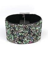 UNITED ELEGANCE Stylish Cuff Wristband With Stones & Swarovski Style Cry... - $11.99