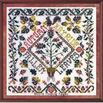 Autumn Garden Party cross stitch chart Tempting Tangles - $10.80