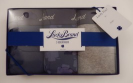 3 LUCKY BRAND MEN'S COTTON BOXER BRIEFS BLUE GRAY - SIZES: S M L XL IN G... - $26.50