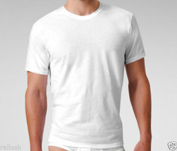 3 GENUINE CALVIN KLEIN SIZE SMALL MEN'S 100% COTTON T-SHIRTS WHITE CREW ... - $26.90