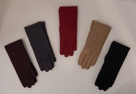 ISOTONER BLACK BROWN GRAY OR RED WOMEN'S CLASSIC GLOVES WARM LINED - GRE... - $20.49