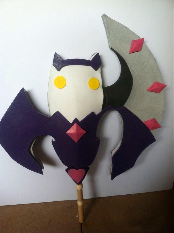 Elsword aisha void princess staff cosplay prop