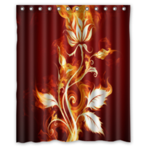 Floral Pattern #25 Shower Curtain Waterproof Made From Polyester - $29.07+