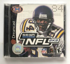 ☆ NFL 2K2 (Sega Dreamcast 2001) AUTHENTIC Complete in Case Game Manual W... - $12.90