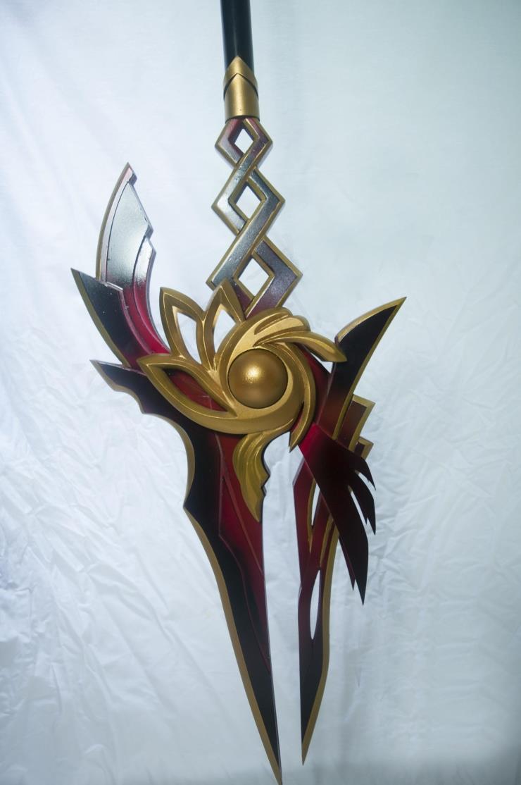 Elsword ara yama raja cosplay spear prop buy