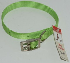 Valhoma 730 14 LG Dog Collar Lime Green Single Layer Nylon 14 inches Package 1 image 1