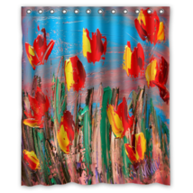 Floral Pattern #29 Shower Curtain Waterproof Made From Polyester - $29.07+