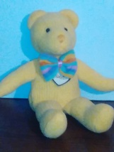 Vintage yellow bear from unique plush collectibles - $8.50