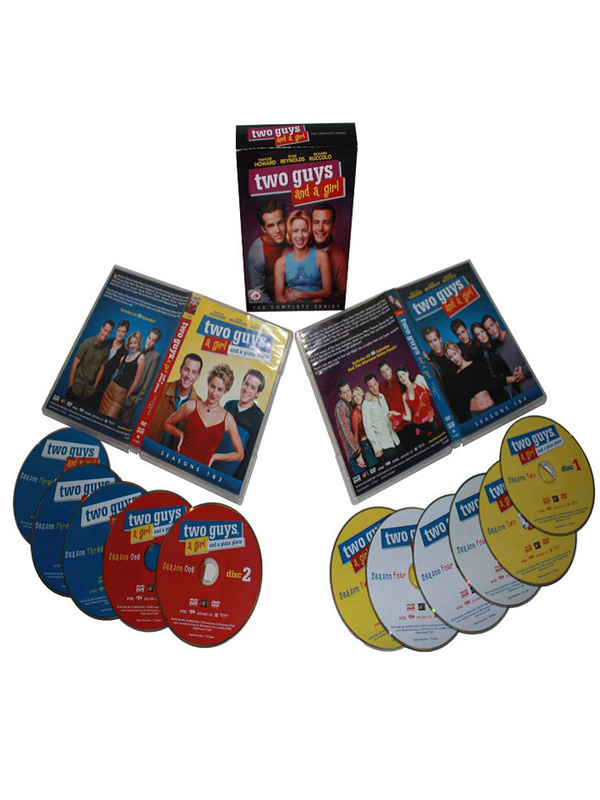 Two Guys and a Girl The Complete Series Season 1-4 DVD Set 11 Dsic Free Shipping