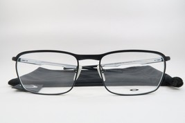 New Oakley OX3186-0554 CONDUCTOR Satin Black/White Eyeglasses 54mm w/ Cloth Bag - $89.09