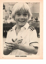 Ricky Schroder teen magazine pinup clipping black and white suprised smile