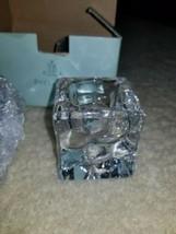 PartyLite Ice Block Pair w/ Original Box Candle Holder - $17.81