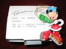 DISNEY Christmas Magic MINNIE Ornament GROLIER 26231-104 - $15.00