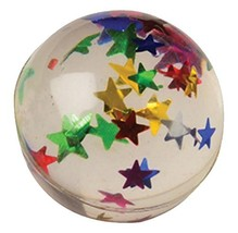 U.S. Toy Lot of 12 Star Confetti Glitter High Bounce Rubber Balls - $15.96