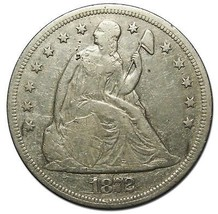1872 $1 Seated Dollar Silver Coin Lot# EA 203 - $327.21