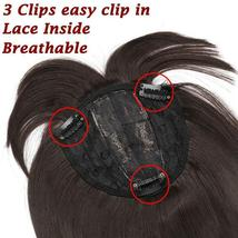 NEW 11'' Lady Hair Topper Real One Piece Full Head Clip In Hair Extension image 10