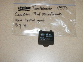 Toastmaster Bread Maker Machine Capacitor 9 Of Microfarads For Model 1157s - $9.49
